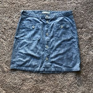 Levi's Size 12 Women's Jean Skirt Button Front